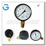 Pressure gauge manometers 4 inch black steel bottom type with screw on the bezel